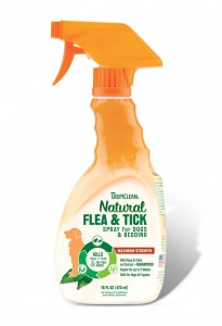 Spray TROPICLEAN Flea and Tick Spray for Pets - do zabijania pcheł, kleszczy oraz jajeczek larw